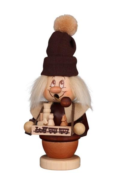 Räuchermännchen Miniwichtel Spielzeughändler mit dem niedlichen Gesicht und der typischen Knubbelnase von Christian Ulbricht GmbH & Co KG Seiffen/ …