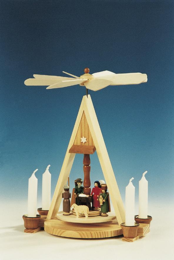 Weihnachtspyramide Christi Geburt, 26 cm, Knuth Neuber Seiffen/ Erzgebirge