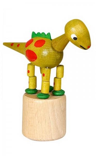Wackelfigur gelber Dinosaurier von Jan Stephani