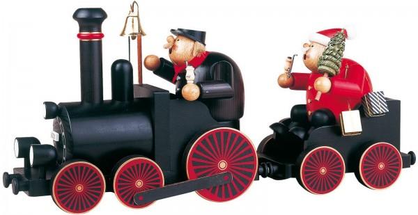 Räuchermännchen Set Eisenbahn - Lokomotive, 4-teilig, 24 cm von KWOKunstgewerbe-Werkstätten Olbernhau/ Erzgebirge