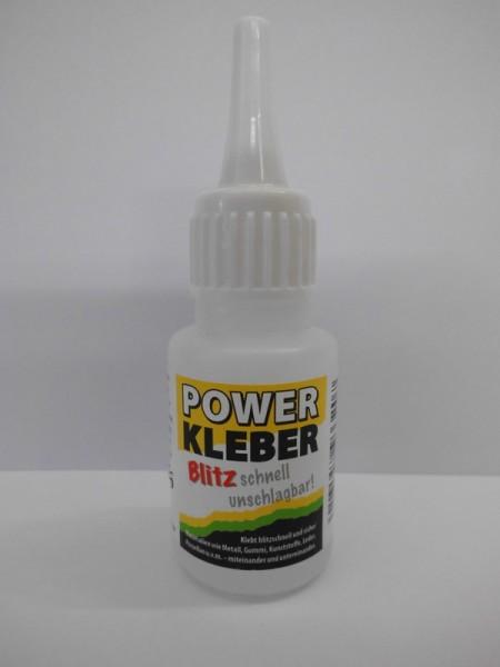 Power Kleber, 20g - verklebt biltzschnell Holz, Metall, Gummi und Leder