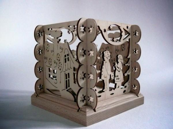 Teelichthalter Hänsel und Gretel, 11,5 x 11,5 x 11,5 cm von Weigla - Günter Gläser Deutschneudorf/ Erzgebirge Der Teelichthalter Hänsel und Gretel wird …