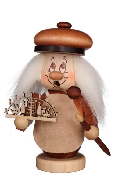 Räuchermännchen Miniwichtel Schwibbogenbauer mit der typischen Knubbelnase und dem freundlichen Gesicht von Christian Ulbricht GmbH & Co KG Seiffen/ …