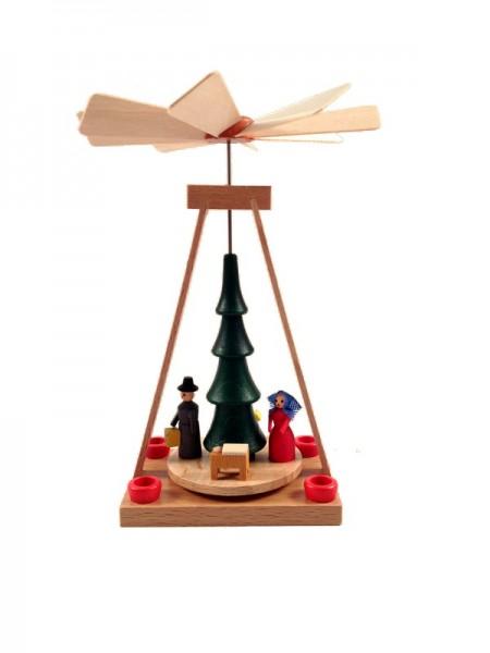 Weihnachtspyramide & Minipyramide Christi Geburt, 13 cm, Spielwarenmacher Günther Seiffen/ Erzgebirge