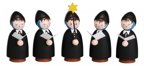Weihnachtsfiguren Kurrende, 5tlg, schwarz von Romy Thiel