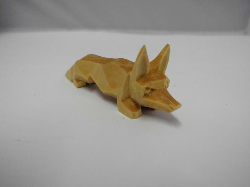 Nestler-Seiffen, geschnitzter Fuchs, 7 cm