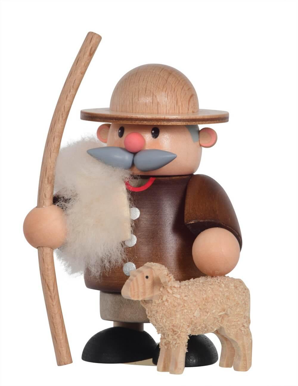 Räuchermännchen von KWO mit dem Motiv eines Schäfers, 11 cm