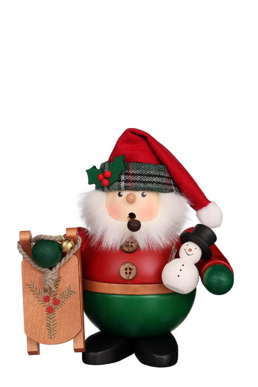 Räuchermännchen Weihnachtsmann mit Schlitten, 16 cm von Christian Ulbricht GmbH & Co KG Seiffen/ Erzgebirge