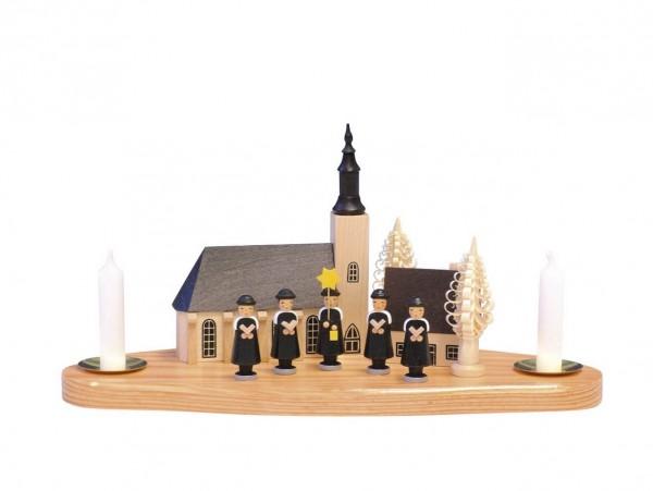 Knuth Neuber, Kerzenhalter Kurrende mit Schneeberger Kirche_Bild1