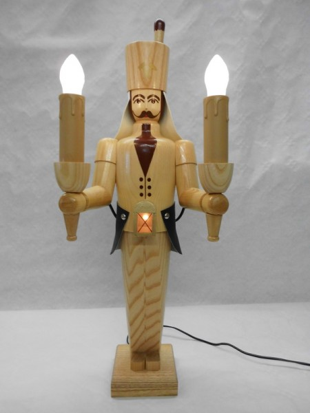 Bergmann, 50 cm, natur, elektrisch beleuchtet mit eigenen Trafo von Nestler-Seiffen.com OHG Seiffen/ Erzgebirge