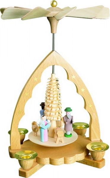 Weihnachtspyramide Christi Geburt, 19 cm, Richard Glässer GmbH Seiffen/ Erzgebirge