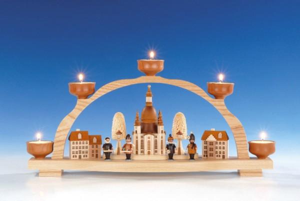 Schwibbogen Frauenkirche für Teelichter, 47 cm, Knuth Neuber Seiffen/ Erzgebirge