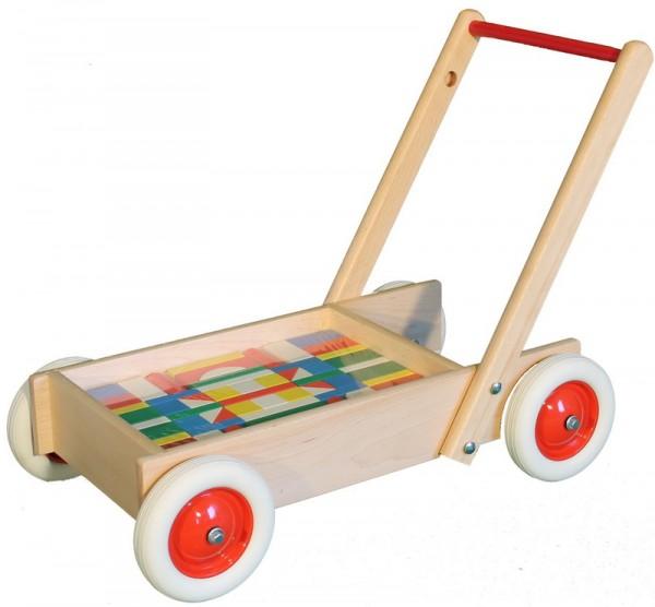 Zwei in Einem: mit diesem tollen Schiebewagen sind kleine Kinderzimmerhelden flott unterwegs! So können sie spielerisch Laufen lernen und gleichzeitig die …