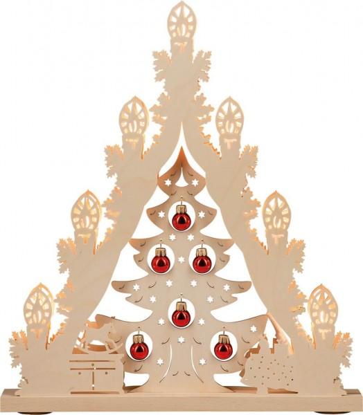 Weigla LED Lichterspitze Weihnachtsbaum mit roten Kugeln