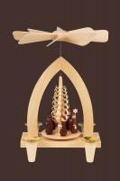 Vorschau: Weihnachtspyramide mit Kurrende, 26 cm hergestellt von Heinz Lorenz Olbernhau/ Erzgebirge_Bild2