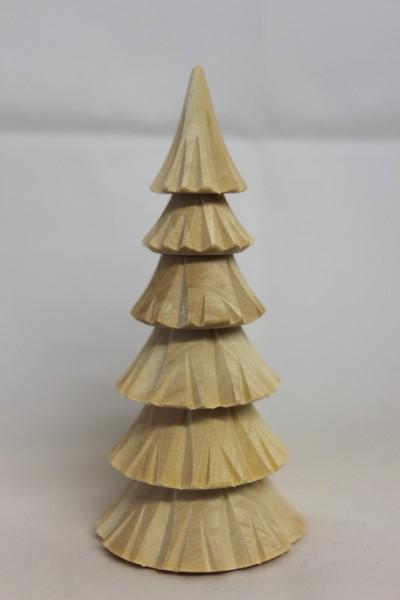 Baum, geschnitzt, natur, 6 - reihig, 10 cm, Romy Thiel Deutschneudorf/ Erzgebirge
