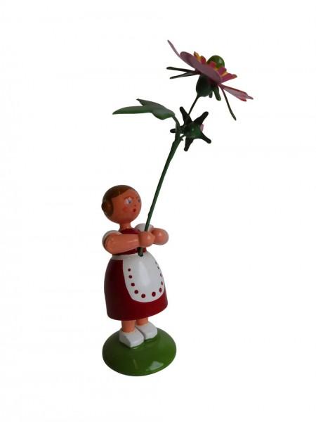 Blumenkinder - Sommerblumenkind Mädchen mit Heckenrose, 11 cm von WEHA-Kunst Dippoldiswalde/ Erzgebirge