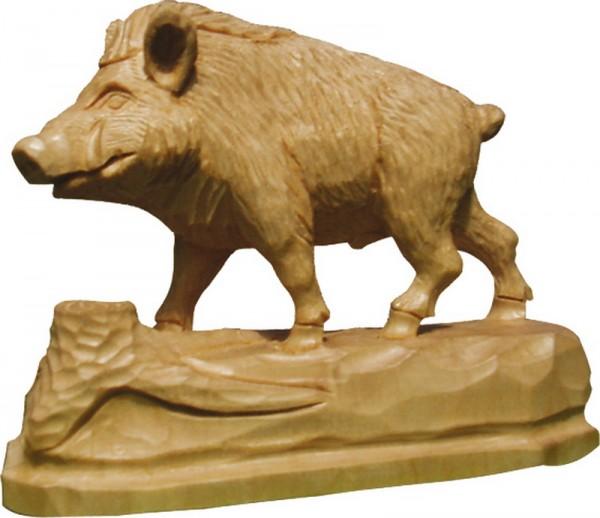Wildschwein, natur, geschnitzt, in verschiedenen Größen