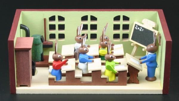Miniaturstübchen Hasenschule Lehrer von Gunter Flath