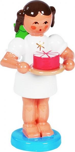 Weihnachtsengel & Bäckerengel mit Sahnetorte, 6 cm, Richard Glässer GmbH Seiffen/ Erzgebirge