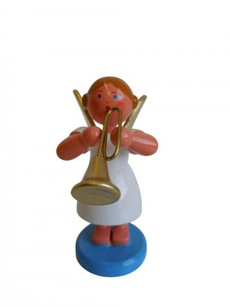 Weihnachtsengel mit Trompete, 6 cm von WEHA-Kunst Dippoldiswalde/ Erzgebirge