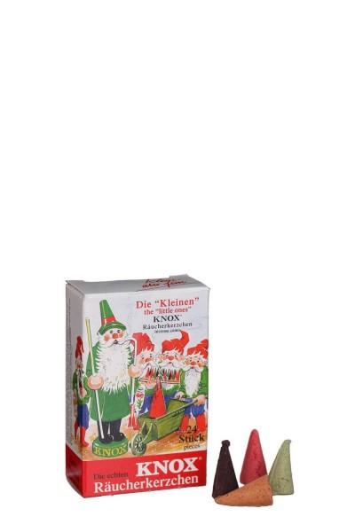 Räucherkerzen, klein, 24 Stück, Bunte Mischung aus 4 Düften pro Packung von KNOX - Apotheker Hermann Zwetz