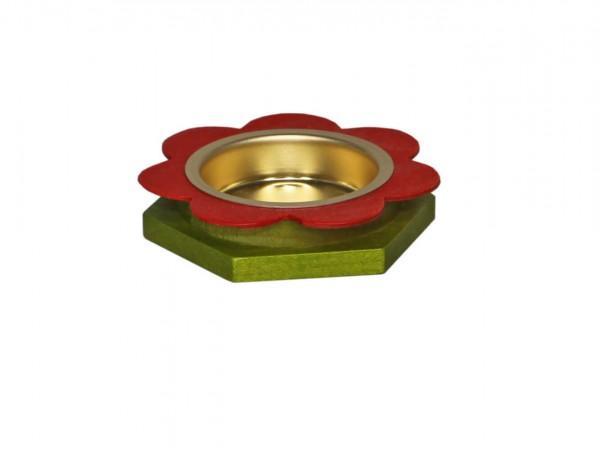 Teelichthalter Blume von Volker Zenker aus Seiffen