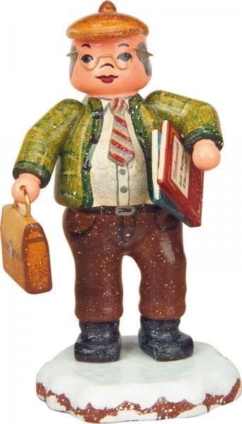 Winterkind Herr Lehrer von Hubrig Volkskunst GmbH Zschorlau/ Erzgebirge ist 8 cm groß.