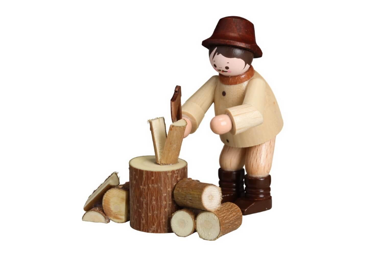 Miniatur Holzhacker, natur von Romy Thiel