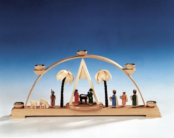 Schwibbogen mit Christi Geburt, bunt, 43 cm, Knuth Neuber Seiffen/ Erzgebirge