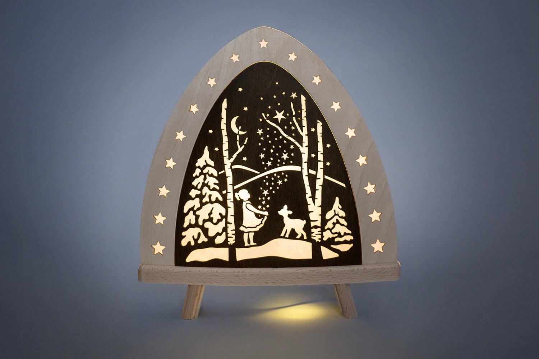 LED Standleuchte Sterntaler, elektrisch beleuchtet, 30 x 32 x 6 cm von Weigla - Günter Gläser Deutschneudorf/ Erzgebirge Die …