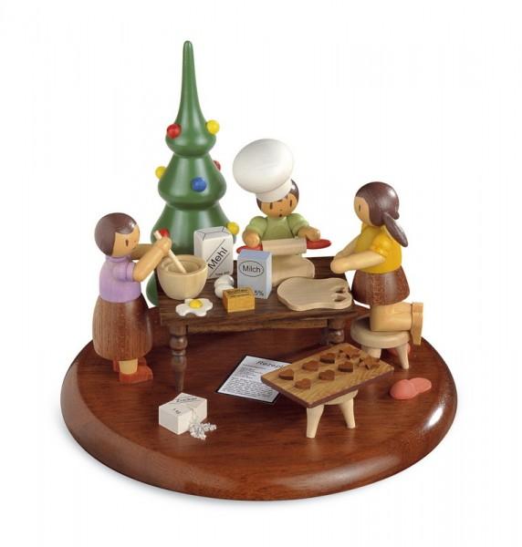Motivplattform für Spieluhr von Müller GmbH Kleinkunst aus dem Erzgebirge, Motiv Weihnachtsbäckerei - SondereditionRolf Zuckowski.