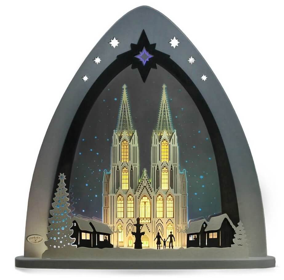 Weigla LED Schwibbogen & Lichterspitze Kölner Dom