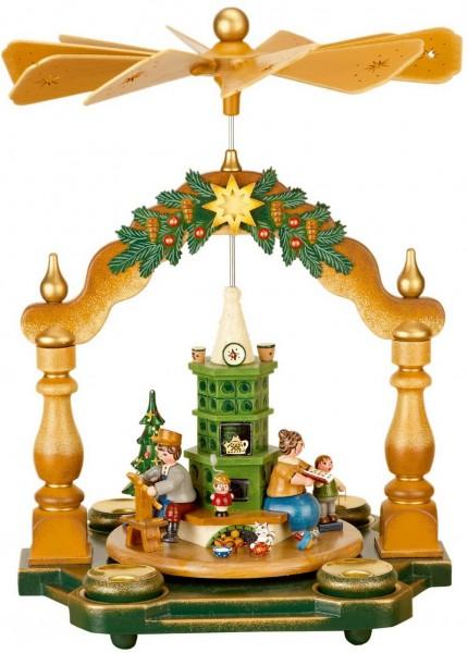 Weihnachtspyramide Großmutters Weihnachtsstube, 35 x 25 cm von Hubrig Volkskunst GmbH Zschorlau/ Erzgebirge. Bei dieser Pyramide kann man Teelichter oder …