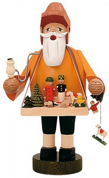 Räuchermännchen von KWO mit dem Motiv eines Spielzeughändlers, 18 cm