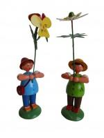 Vorschau: Blumenkinder von WEHA-Kunst als Wiesenblumenjungen, 2 Stück_Bild1