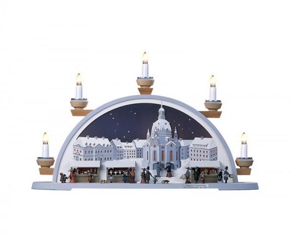 Schwibbogen Frauenkirche Dresden mit Striezelmarkt von Klaus Kolbe_Bild1