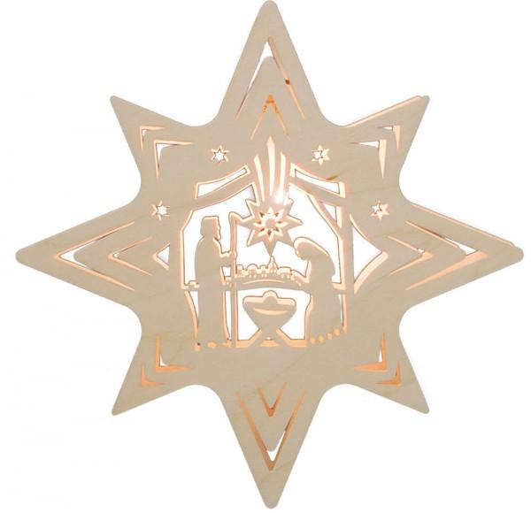 Weigla Beleuchtetes Fensterbild Stern mit Heiliger Familie