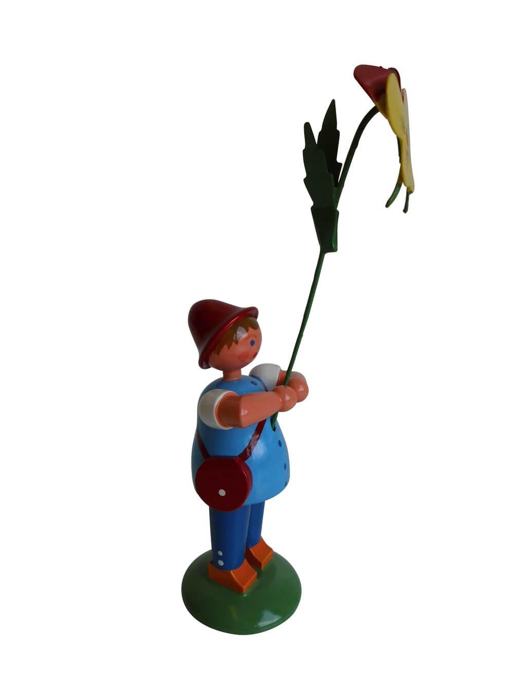 Blumenkind von WEHA-Kunst Junge mit Stiefmütterchen, 12 cm_Bild1
