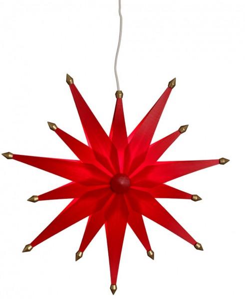 Eckert, Weihnachtsstern exklusiv, rot, elektrisch beleuchtet