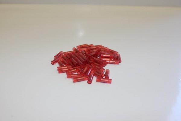 Parallelverbinder, isoliert, rot, 0,5 - 1 mm, 100 Stück