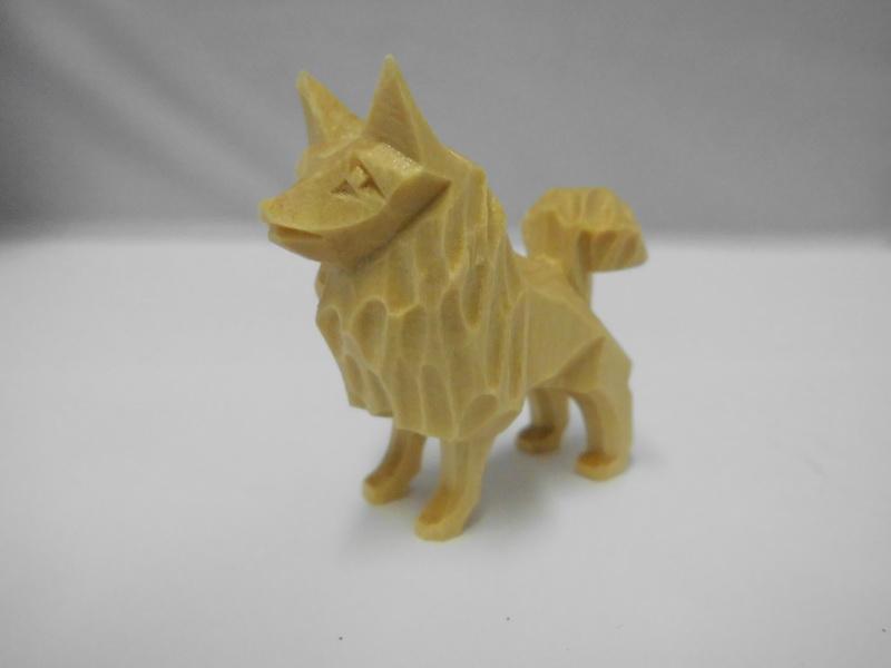 Nestler-Seiffen, geschnitzte Dekofigur Hund (Spitz), 5 cm