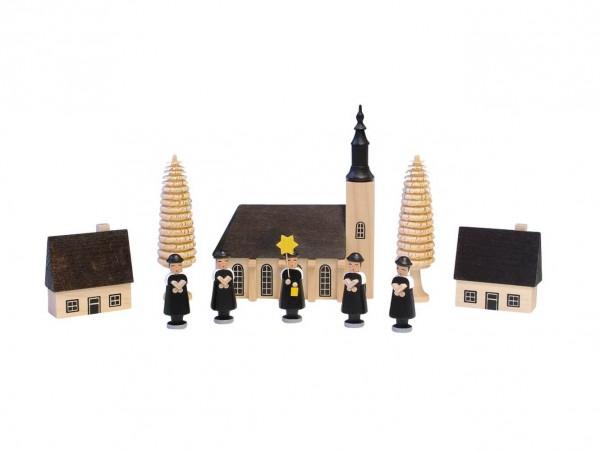 Knuth Neuber, Kurrende, farbig mit Schneeberger Kirche
