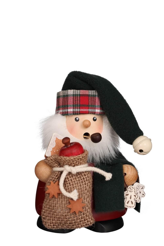 Räuchermann Weihnachtsmann mit Sack, 14 cm, Christian Ulbricht GmbH & Co KG Seiffen/ Erzgebirge