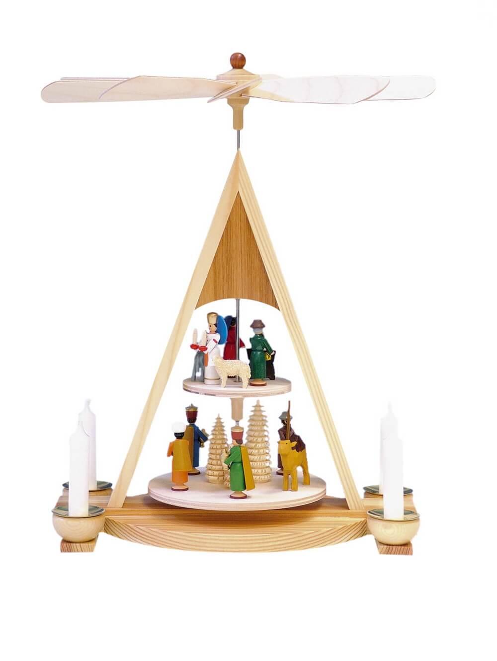 Knuth Neuber, Weihnachtspyramide Heilige Familie 2-stöckig