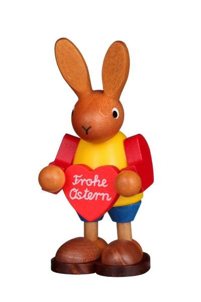 Osterhase mit Herz, 9 cm von Christian Ulbricht GmbH & Co KG Seiffen/ Erzgebirge