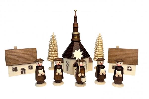 Nestler-Seiffen, Weihnachtsfiguren Seiffener Dorf mit Kirche, Kurrende_Bild1