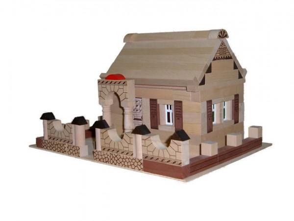 Der Baukasten Noblesse Haus besteht aus150 Holzbausteinen undund basiertauf demtraditionellen Blumenauer …