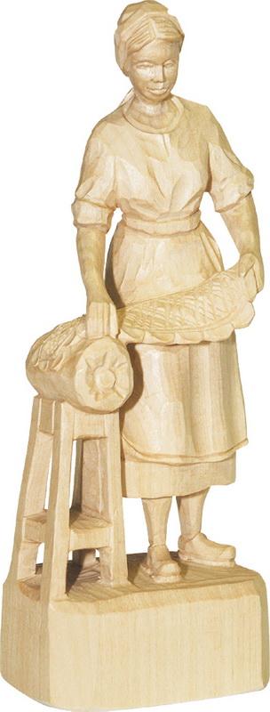 Klöppelfrau, geschnitzt von Schnitzkunst aus dem Erzgebirge_Bild2