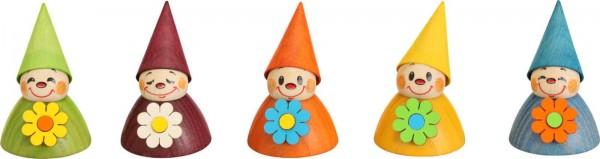 Blumen- Wippelfiguren, farbig von Seiffener Volkskunst